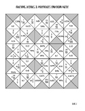 Fraction, Decimal, and Percent Conversion Puzzle