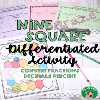 Fraction, Decimal and Percent Conversions Nine Square Craze