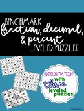 Fraction, Decimal, and Percent Leveled Puzzles