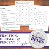 Fraction, Decimal, and Percent Puzzle