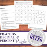 Converting Fractions, Decimals, and Percents Puzzle
