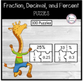 Fraction, Decimal, and Percent Puzzles