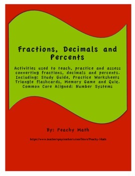 Fraction, Decimal and Percent Review