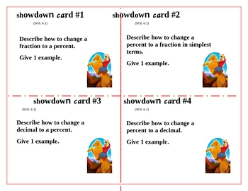Fraction, Decimal, and Percent Showdown