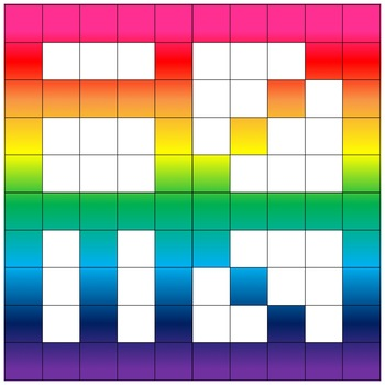 Fraction, Decimal, Percent Squares w/Patterns
