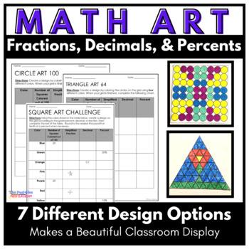 Math Art: Fraction, Decimal and Percent Coloring Activity