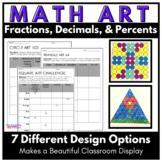 Fraction Decimal and Percent Art Activity