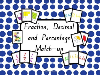 match decimal percent and fraction pdf