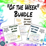 Fraction, Decimal, and Shape of the Week Bundle