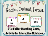 Fraction, Decimals, & Percents File Folder Game/ Interactive Notebook Activity