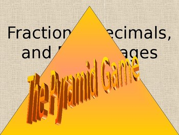 Fraction, Decimals, and Percentages Pyramid Game