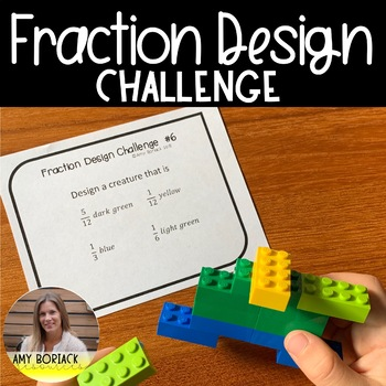 Fraction Design Challenge - 20 Task Cards