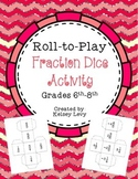 Fraction Dice Activity