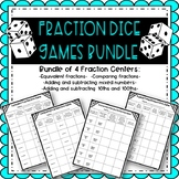 Fraction Dice Game Bundle
