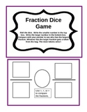 Fraction Dice Game