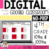 Fraction Digital Lesson to use with Google Classroom CCSS