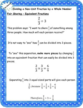 Fraction Division Anchor Charts - Understanding the Why?