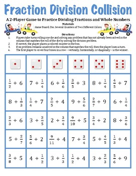 graphic relating to Dividing Fractions Games Printable called Dividing Fractions Via Complete Quantities Worksheets Training