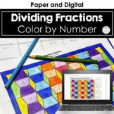 Dividing Fractions Coloring Fraction Division Color by Number
