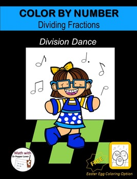Color by Number Fraction Pages: Division Dance