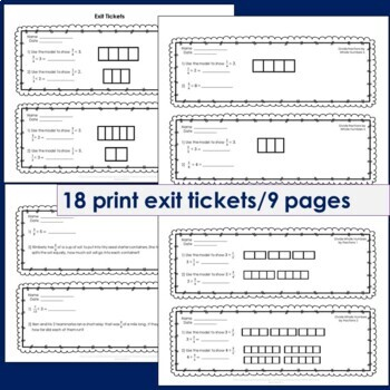Fraction Division Exit Tickets