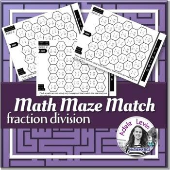 Fraction Division (MATH MAZE MATCH)
