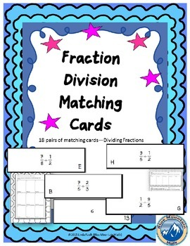 Fraction Division Matching Cards