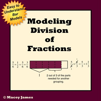 Fraction Division Model Lessons and Worksheets