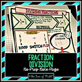 Fraction Division No Prep Note Page