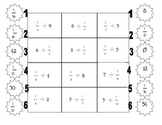 Fraction Division Partner Game