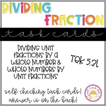 Fraction Division Task Cards 5.3L