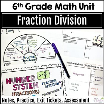 6th Grade Math Fraction Division Curriculum Unit, Editable