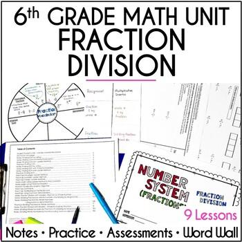 Fraction Division Unit for Grade 6