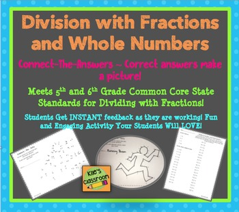 Fraction Division - Whole Numbers and Fractions- Connect the Answers