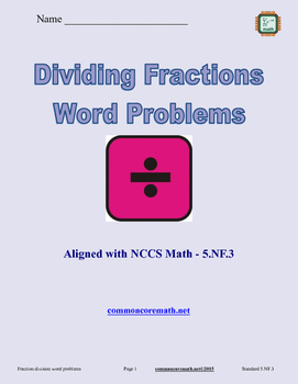 Fraction Division; Word Problems - 5.NF.3