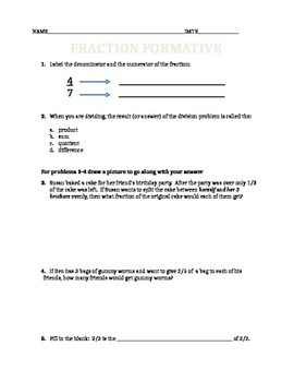 Fraction Division Worksheets (set of 3)