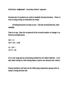 Fraction Division using String!