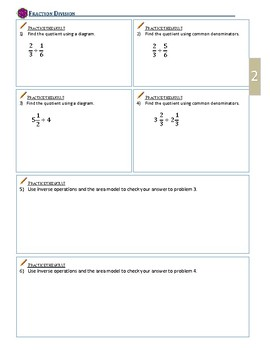 Fraction Division with the Method of Common Denominators