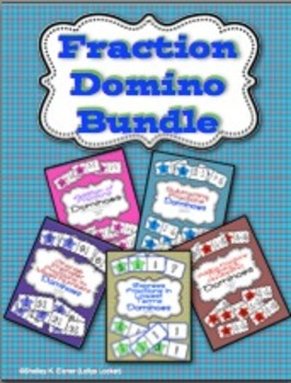 Fraction Action Domino Game Bundle