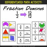 Differentiated Fraction Dominoes:  Halves through Twelfths