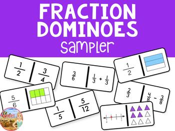 Fraction Dominoes Freebie