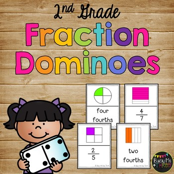 Fraction Dominoes Game {Up to Eighths} SECOND GRADE