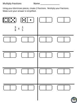 Fraction Dominoes Games