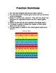 Fraction Dominoes Math Center Game - Equivalent Fractions 3.NF.A3, 4 NF.A1