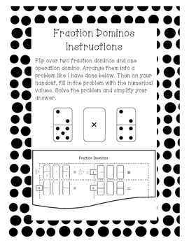 Fraction Dominos-Adding, Subtracting, Multiplying, Dividing, & Comparing