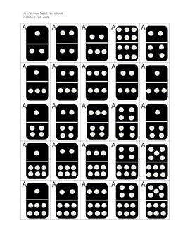 Fraction Dominoes for Interactive Math Journal