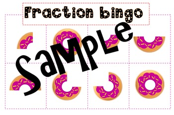 Fraction Donut bingo