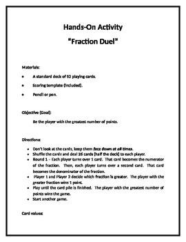 Fraction Duel Activity