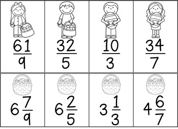 FREEBIE: Fraction Easter Egg Hunt {Converting Improper and Mixed Fractions}