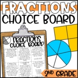 Fractions Enrichment Activities - Math Menu, Choice Board